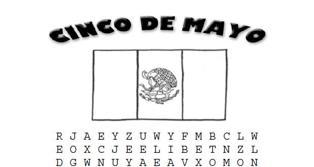 Cinco De Mayo Word Search Activities for Kids