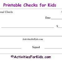 Printable Blank Checks & Check Register