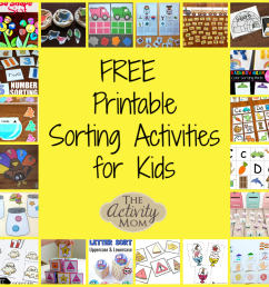 The Activity Mom - Free Printable Sorting Activities - The Activity Mom [ 1000 x 1000 Pixel ]