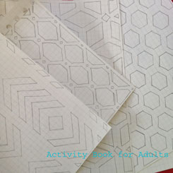 maths paper and geometric shapes