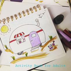 15 minutes of drawing: caravan