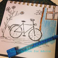 transportation drawing bike