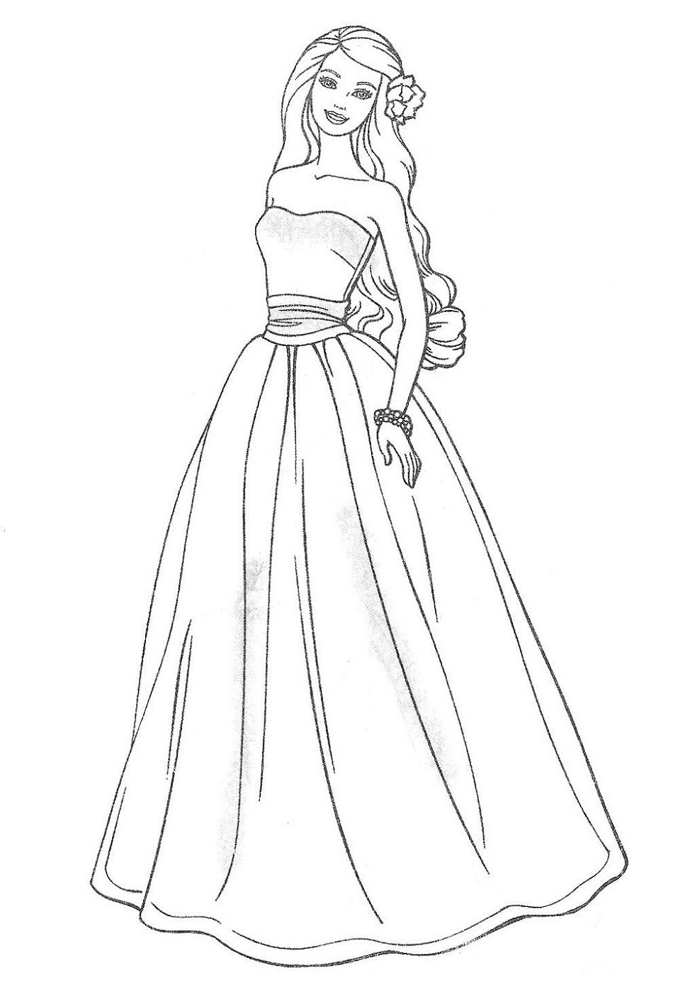 Coloring Pages Dresses : coloring, pages, dresses, Wedding, Dress, Coloring, Pages, Girls, Activity, Shelter