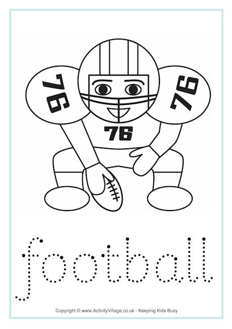 American Football Word Tracing