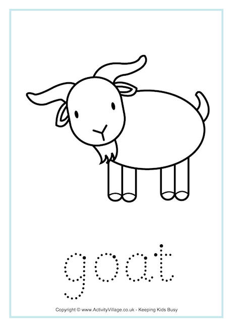 Goat Word Tracing