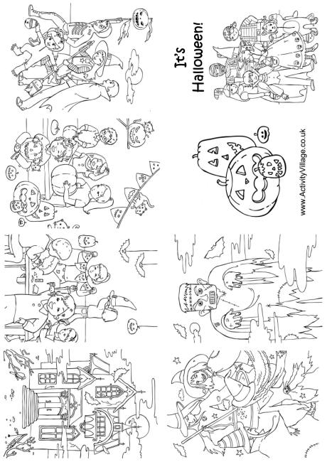 Halloween Colouring Booklet Older