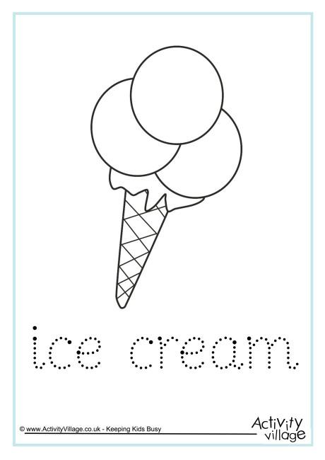 Ice Cream Word Tracing