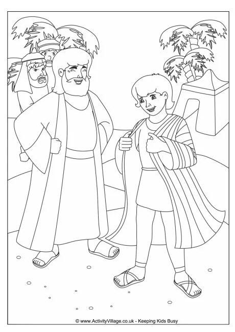Joseph's Coat Colouring Page