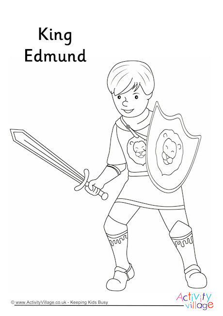 King Edmund Colouring Page