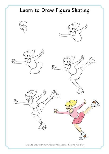 How To Draw Ice Skates : skates, Learn, Skater