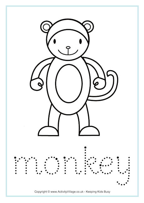 Monkey Word Tracing