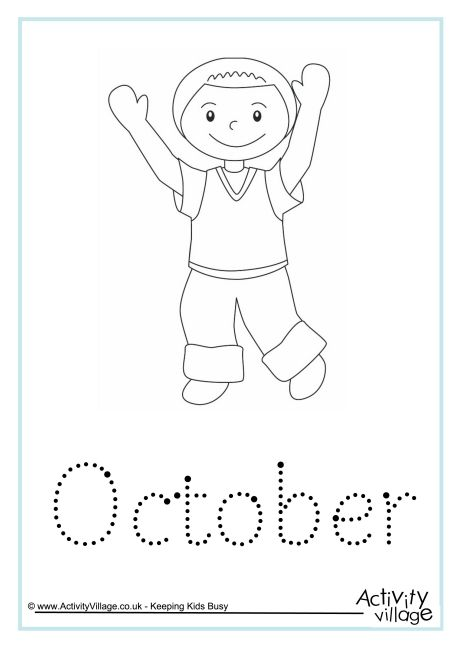 October Word Tracing