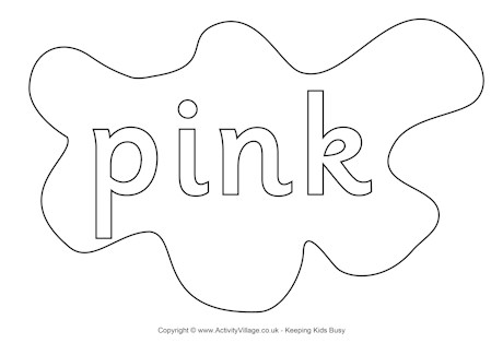 Word Pink Coloring Pages Sketch Coloring Page