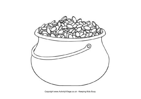Pot of Gold Colouring Page 2