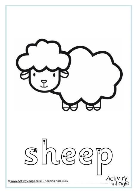 Sheep Finger Tracing