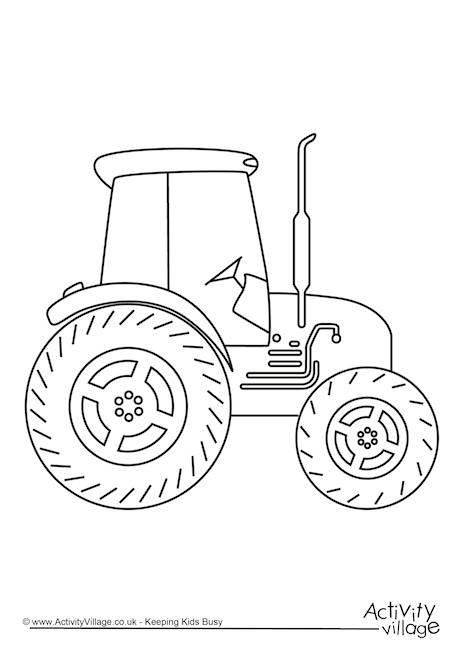 Tractor Colouring Page 2