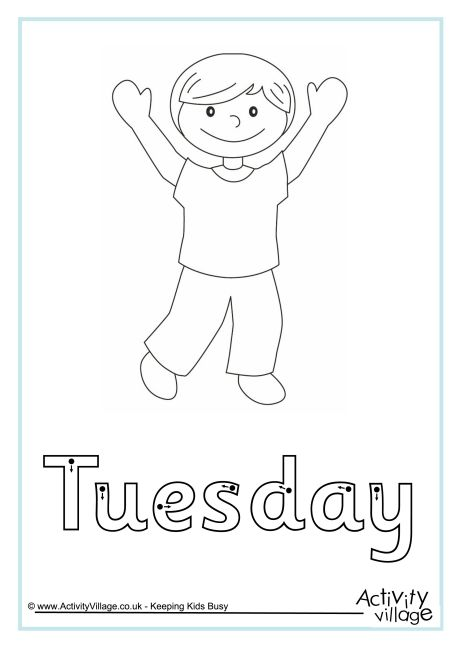 Tuesday finger tracing