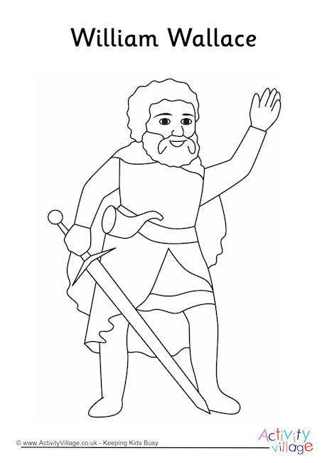 William Wallace Colouring Page