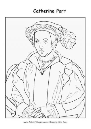Tudor Kings And Queens Colouring Pages