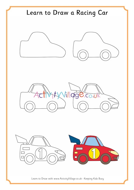How to Draw a Fast Race Car   Easy Drawing for Kids