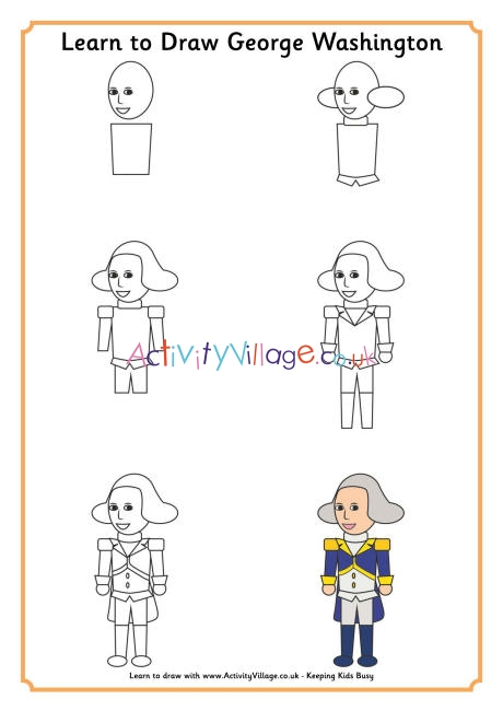 George Washington Drawing Easy : george, washington, drawing, Learn, George, Washington