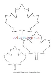 leaf template maple canada activityvillage become member log
