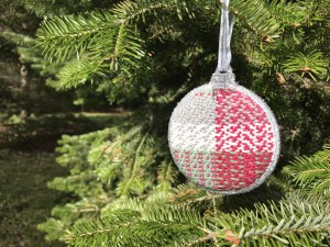 Red Woven Ornament