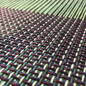 Handwoven Green Fabric - Pattern