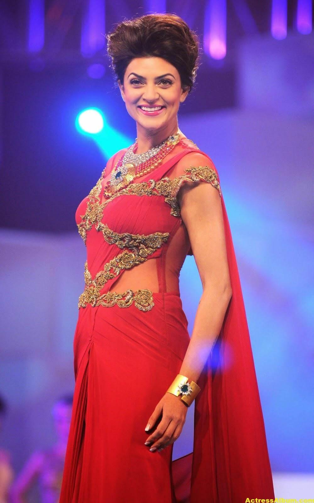 Sushmita Sen Hot Photos In Red Saree - Actress Album