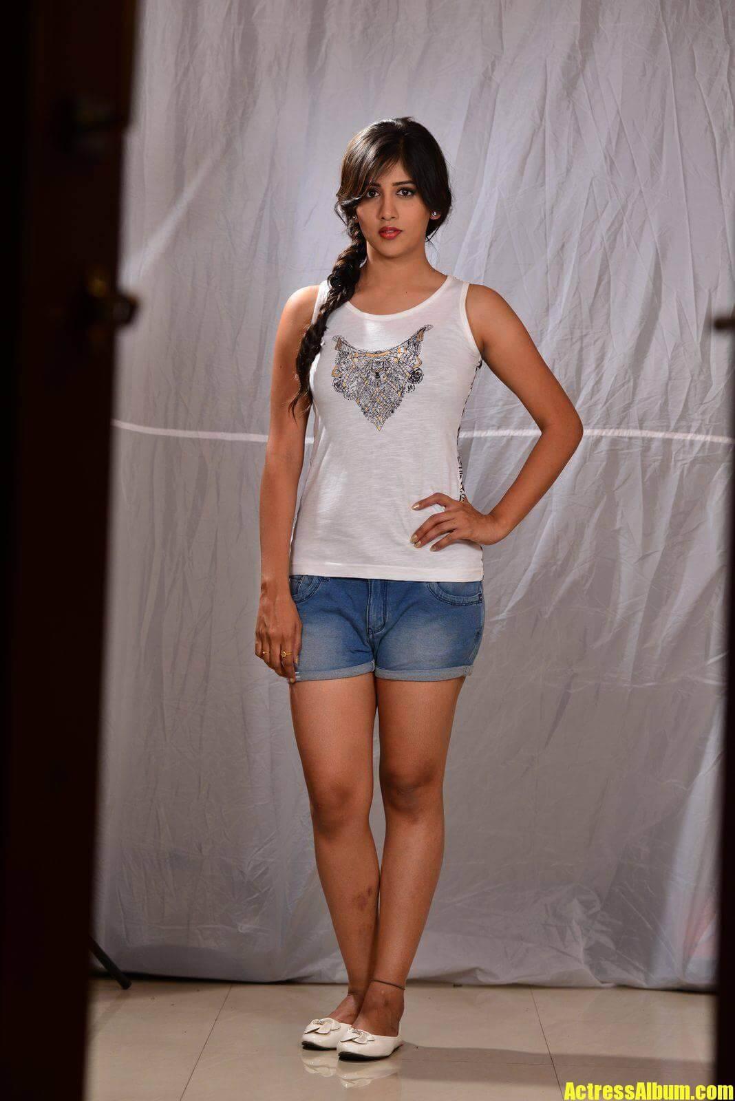 Actress Chandini Chowdary Long legs Hot Stills 2