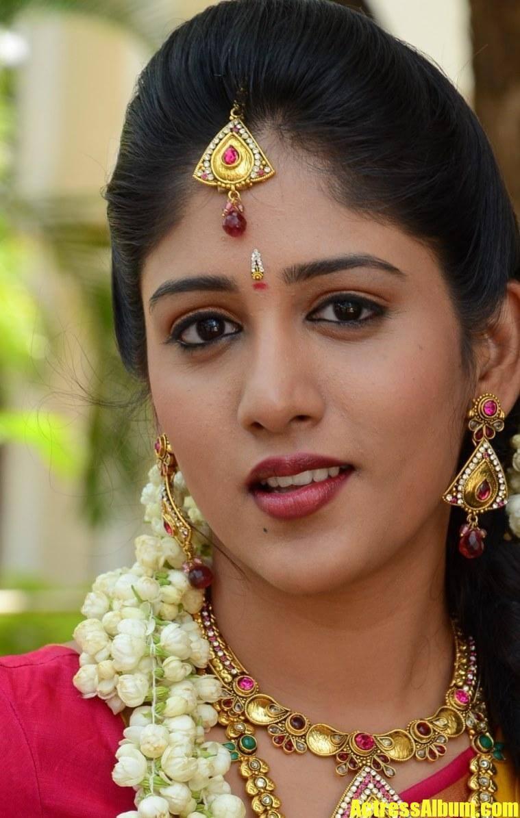 Telugu Actress Chandini Chowdary Face Closeup Stills 7