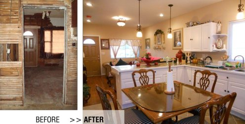 Rehab (kitchen before/after)