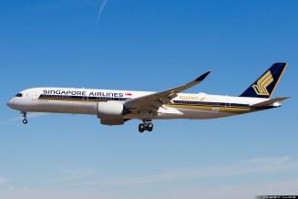 10 000 ème avion Airbus un A350 Singapore Airlines