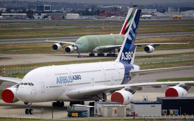 Airbus A380 sur le tarmac de Toulouse-Blagnac