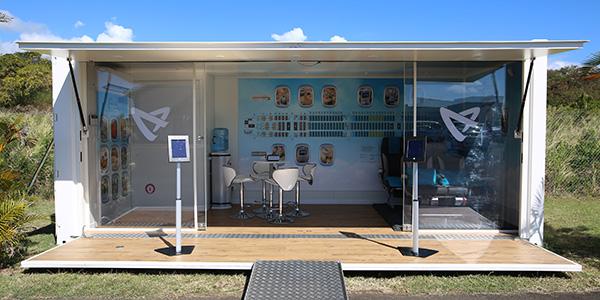Le « Contain'air », l'agence mobile d'Air Austral