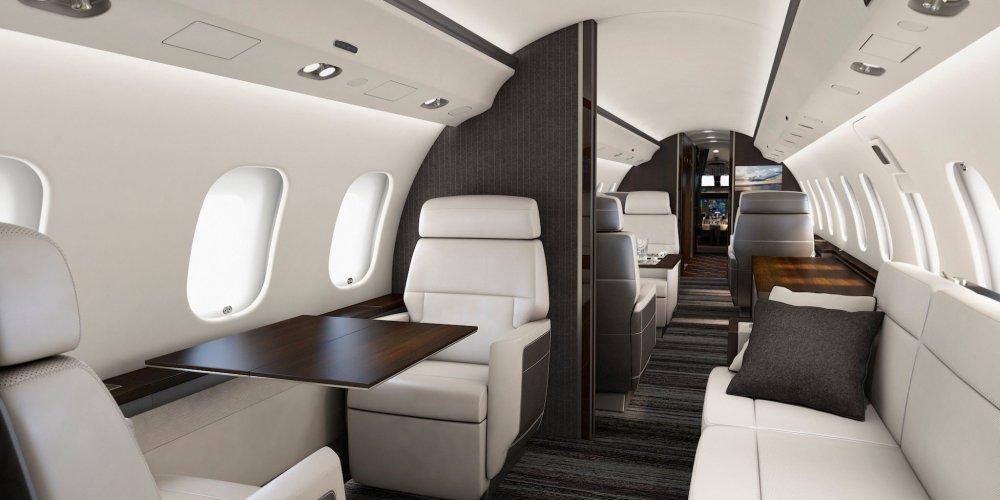 Cabine « Premier » de Bombardier pour la gamme Global 6000 et Globale 5000