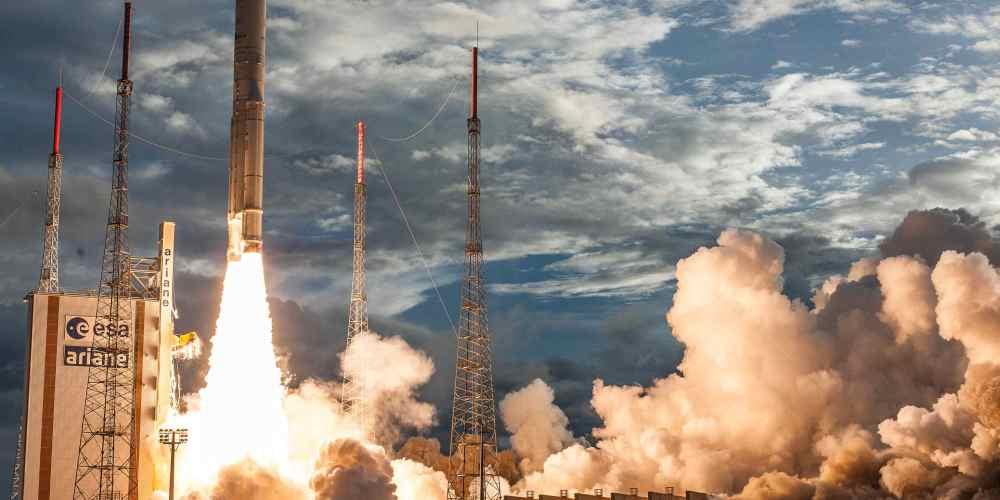Décollage d'Ariane 5 depuis Kourou