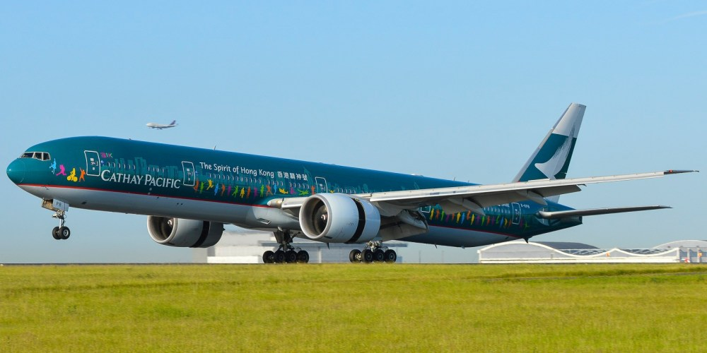 "Boeing 777-300ER Cathay Pacific ""The Spirit of Hong Kong Livery"" B-KPB"