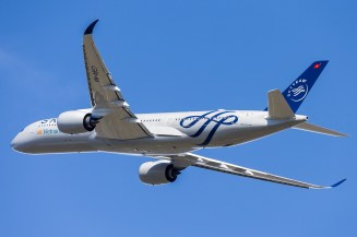 1er A350 avec une livrée Skyteam