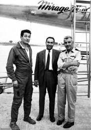 René Bigand, Serge Dassault et Roland Glavany devant Mirage IV 01