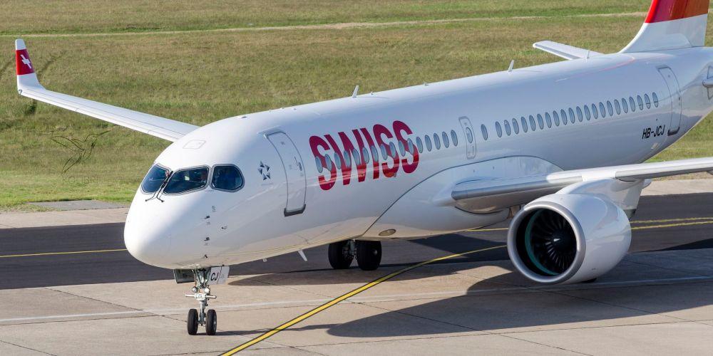 Swiss Bombardier CS300 HB-JCJ