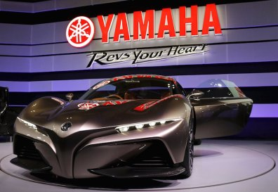 Yamaha Sports Ride Concept vehicle is on display at the 44th Tokyo Motor Show in Tokyo