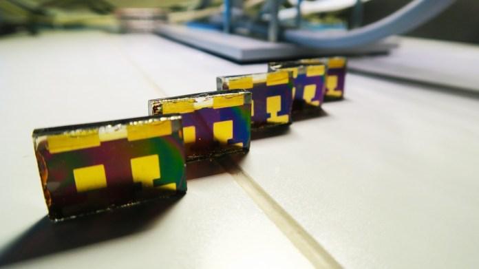 Perovskite solar cells in the lab. Credit: W. Tress (EPFL)