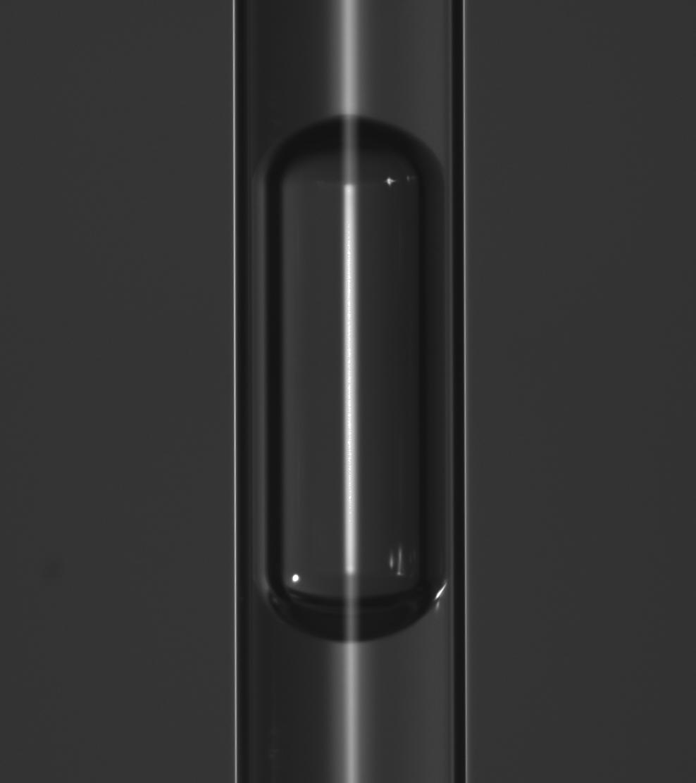Une bulle a priori coincée dans un tube / credit: EPFL