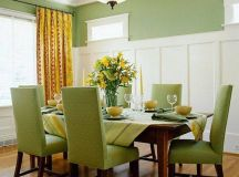 green dining room colors accent | Actual Home | Actual Home