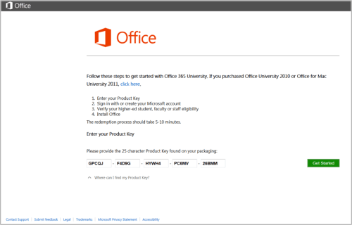 activation key for microsoft office 2011