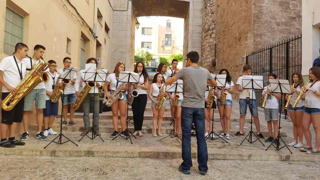 """Grupo de saxofones del Conservatorio Profesional de Música """"Alto Palancia"""""""