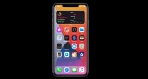 Imagen de widgets en pantalla de inicio de un iPhone 100 novedades de iOS 14 y iPad os 14 en actualidad cesible