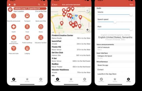 Lazarillo app GPS accesible