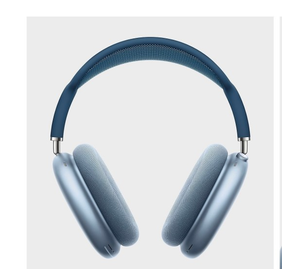 Imagen de los AirPods Pro Max en color azul cielo